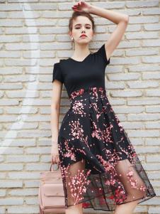 艾诺绮新款网纱半裙