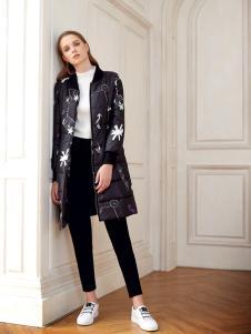 莎斯莱思女装秋冬新款中长款大衣
