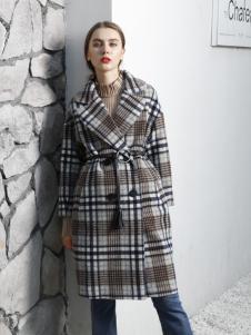 吉米赛欧2017秋冬新款系带大衣