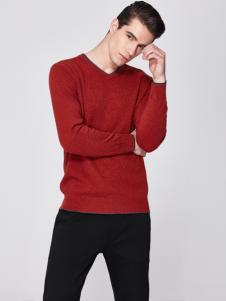 法拉狄奥男装红色毛衫