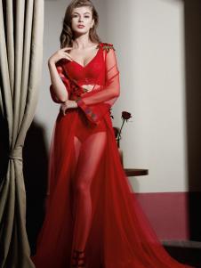 艾慕内衣红色系列