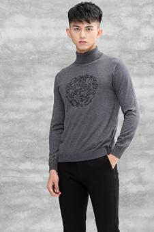 卧虎藏龙灰色长袖针织衫 款号293644