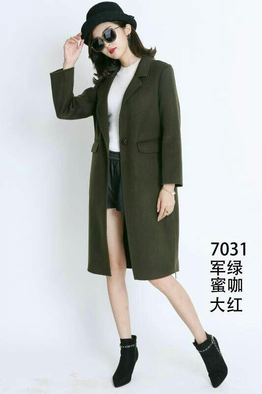 第二批妃诗图双面妮大衣冬装时尚女装外套批发 品牌折扣尾货走份