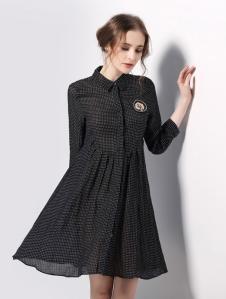 欧妮纳OUNINA衬衫裙