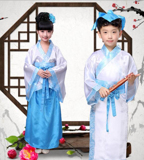 儿童汉服古装国学弟子规三字经书童演出服