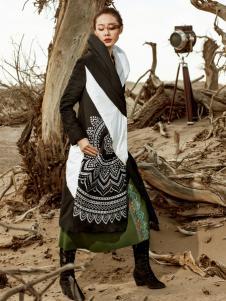 印巴文化民族风拼接连衣裙