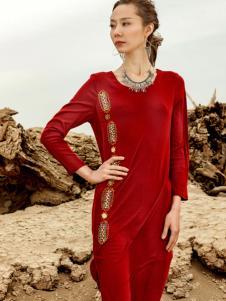 印巴文化连衣裙