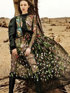 印巴文化复古唯美连衣裙