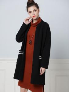 彤欣格2017秋冬新款黑色外套