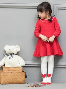 皇后婴儿女童红色连衣裙