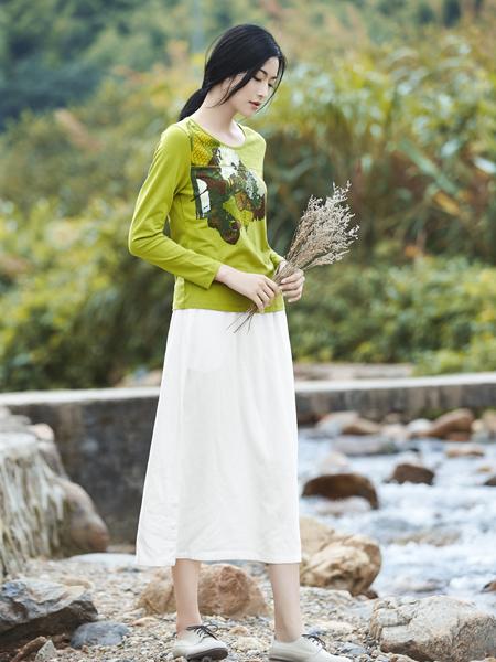 丽比多女装2017秋冬新款绿色T恤