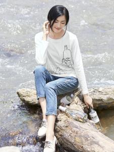 丽比多女装2017秋冬新款印花T恤