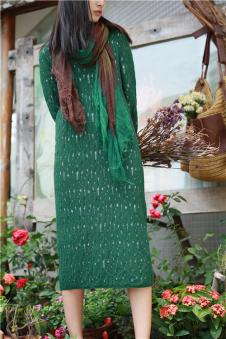 味道MOCI HIPAA木子衣芭女装森女系代言人布衣类设计师品牌针织镂空连衣裙
