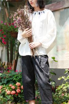 味道MOCI HIPAA木子衣芭女装森女系代言人布衣类设计师品牌休闲棉麻套装