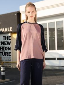 2017芝麻E柜女装新款中长袖T恤