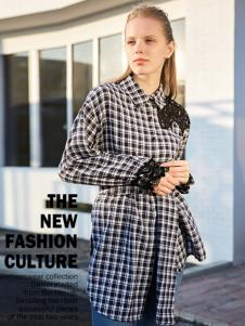 2017芝麻E柜女装新款格子衬衫