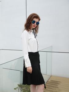 欧米媞女装新款黑色半裙