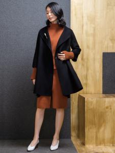ECA女装黑色大衣