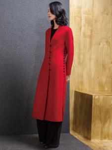 ECA女装红色大衣