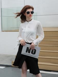 欧米媞女装新款白领衬衫