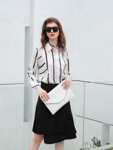 欧米媞女装新款条纹衬衫