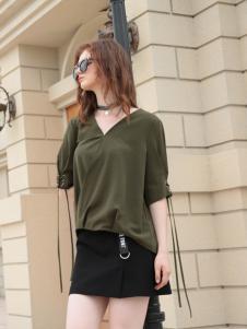 欧米媞女装新款V领T恤