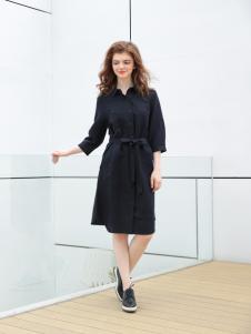 欧米媞女装新款系带连衣裙