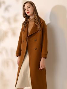 司合伊17秋冬新款棕色大衣
