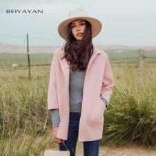 贝雅颜2017粉色外套