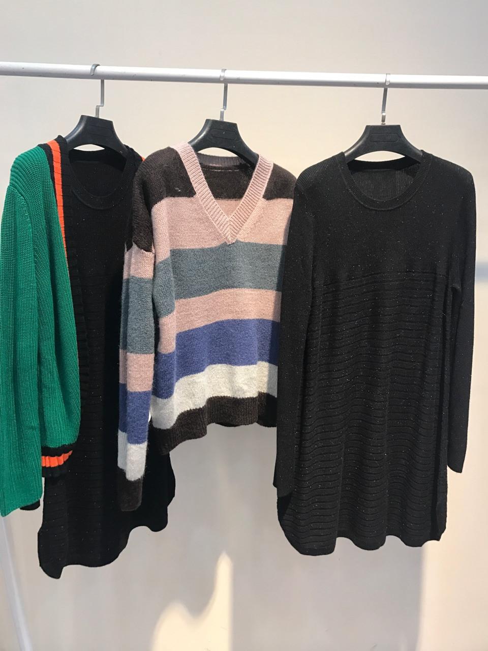 秋冬必备单品玛格丽特毛衣一手货源,品牌折扣女装走份