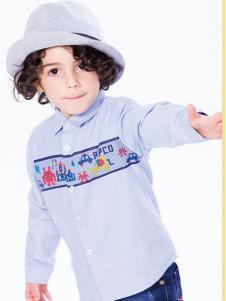小猪班纳男童个性衬衫