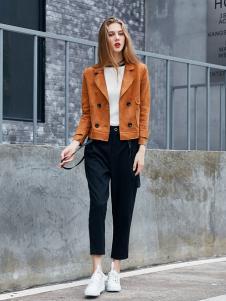 艾诺绮女装秋冬新款短款外套