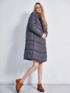 艾诺绮女装秋冬新款中长款羽绒服