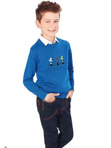 小猪班纳男童针织毛衫