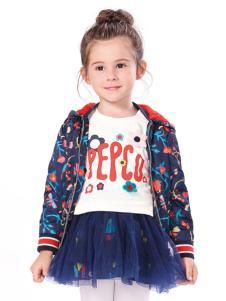 小猪班纳女小童印花外套