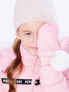 小猪班纳女童粉色羽绒服