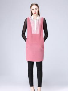 韩菲斯2017秋冬新款粉色套衫