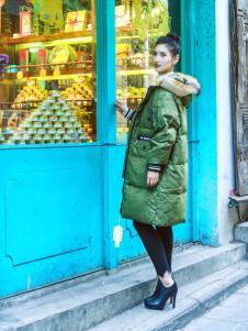 武汉惠品秋冬新款绿色羽绒服