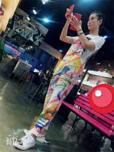 Bistar Galaxy女款手绘涂鸦连体裤