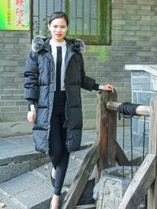 武汉惠品秋冬新款黑色羽绒服
