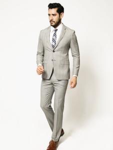博铂定制男装灰色西服套装