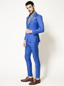 博铂定制男装蓝色休闲西服