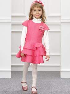 IKKI女童粉色连衣裙