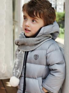 芭乐兔男小童灰色羽绒服