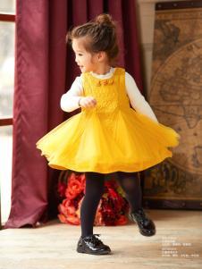 Carlfit卡儿菲特新款黄色连衣裙