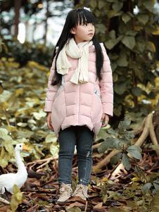 徳蒙斯特秋冬新款浅粉色羽绒服
