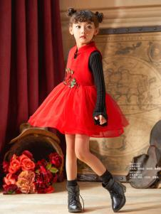 Carlfit卡儿菲特新款红色连衣裙