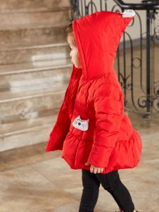 Carlfit卡儿菲特新款红色羽绒服