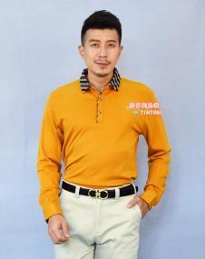添多利秋冬黄色长袖T恤衫