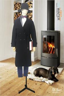 OR.Kart文艺女装黑色大衣